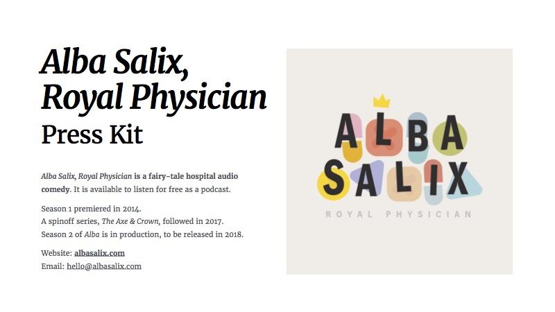 Alba Salix Season 2 Press Kit