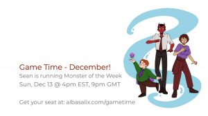 Game Time, Sunday Dec 13 at 4pm EST